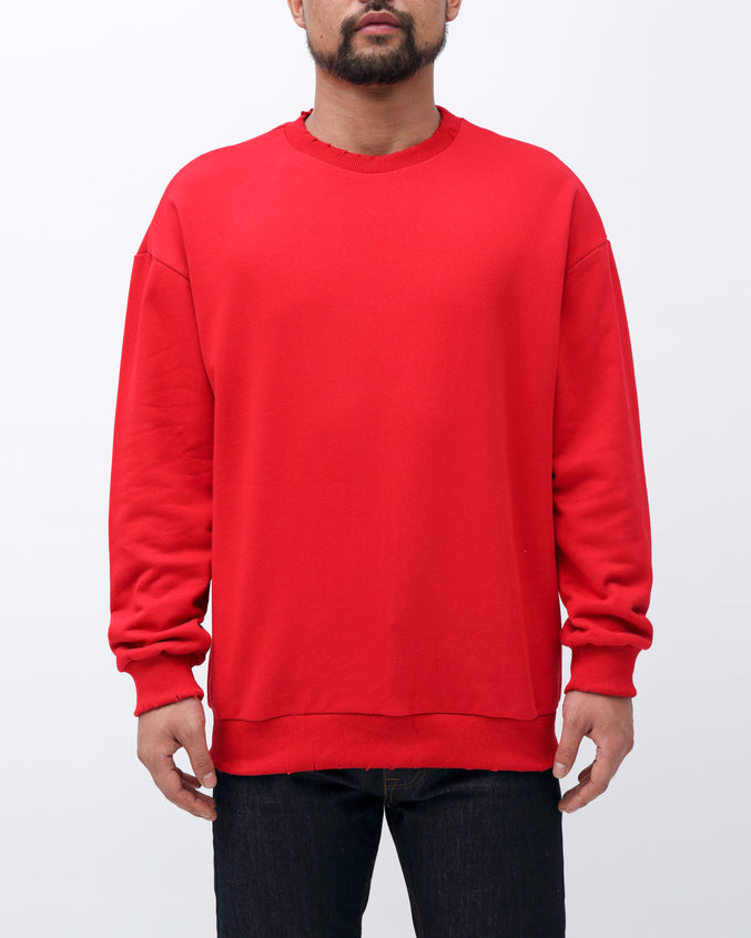 Sweater Crewneck - Color: Red