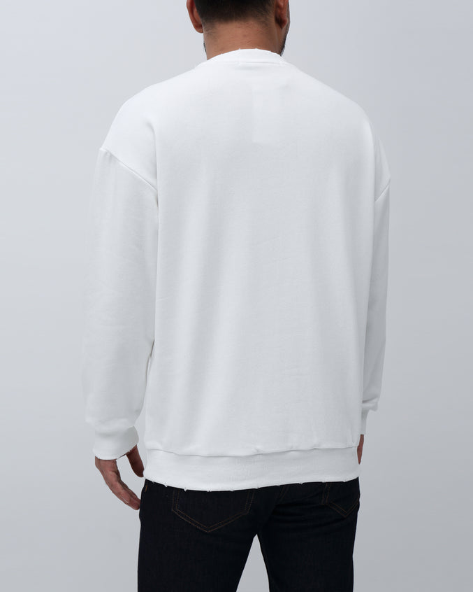 Sweater Crewneck - Color: White | White