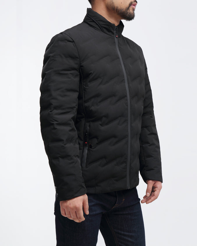 Puffer Quilted Jacket - Color: Black | Black