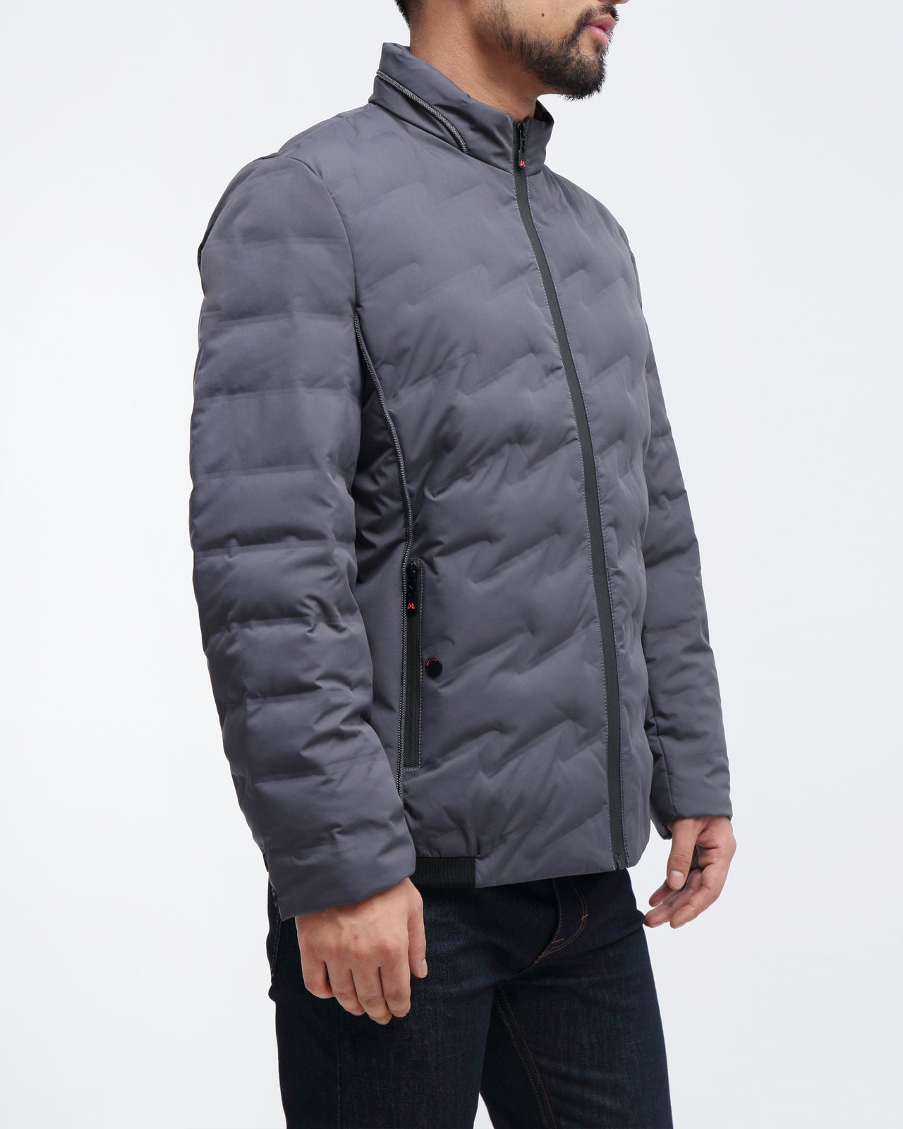 Puffer Quilted Jacket - Color: Grey
