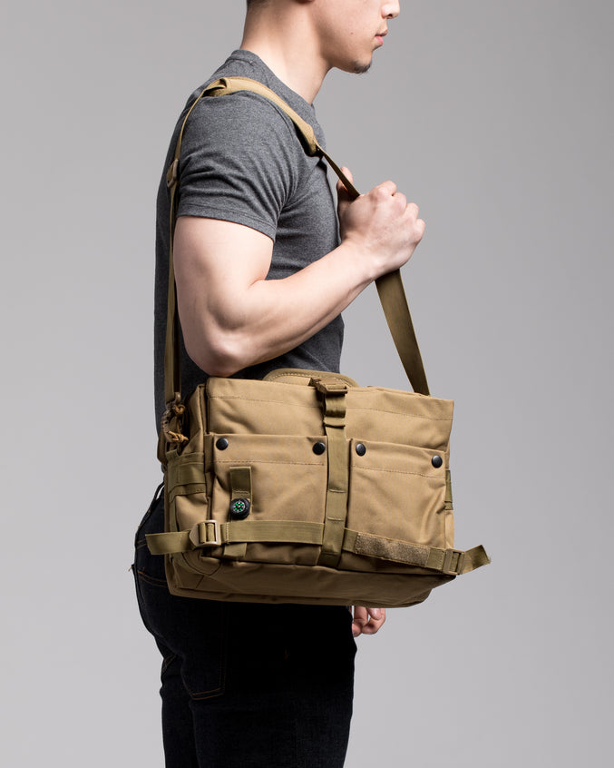 Messenger Bag - Color: Khaki | Beige
