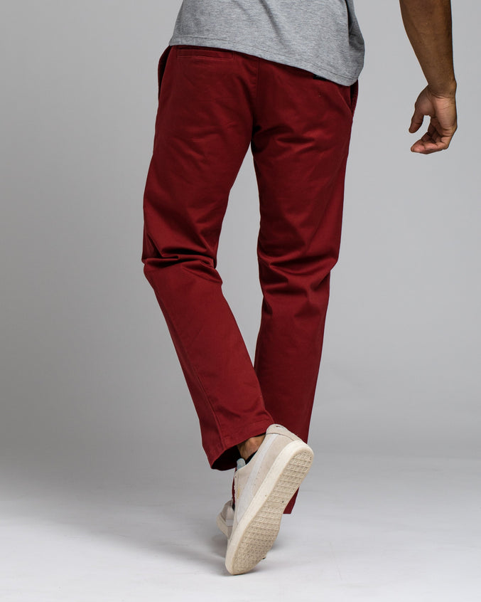Week End Stretch Pant - Color: Rosewood | Red