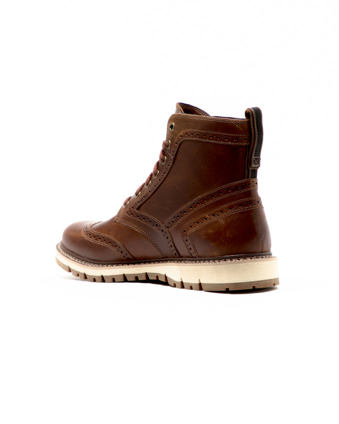 Britton Hill Wingtip Boot - Color: Medium Brown Full Grain Leathe