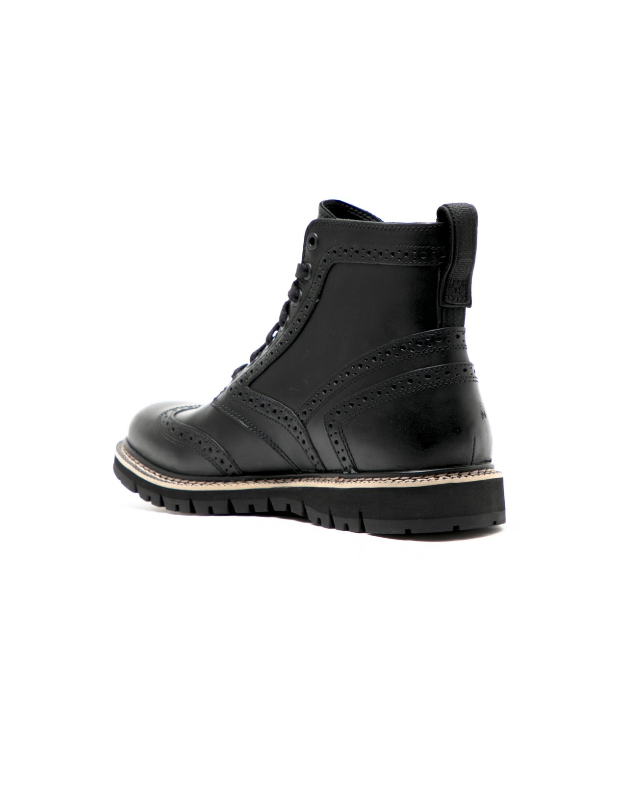 Britton Hill Wingtip Boot - Color: Black Full Grain Leather | Bla