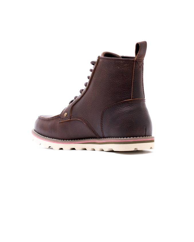 Moc Toe Boot - Color: Caramel Pebble Leather | Brown