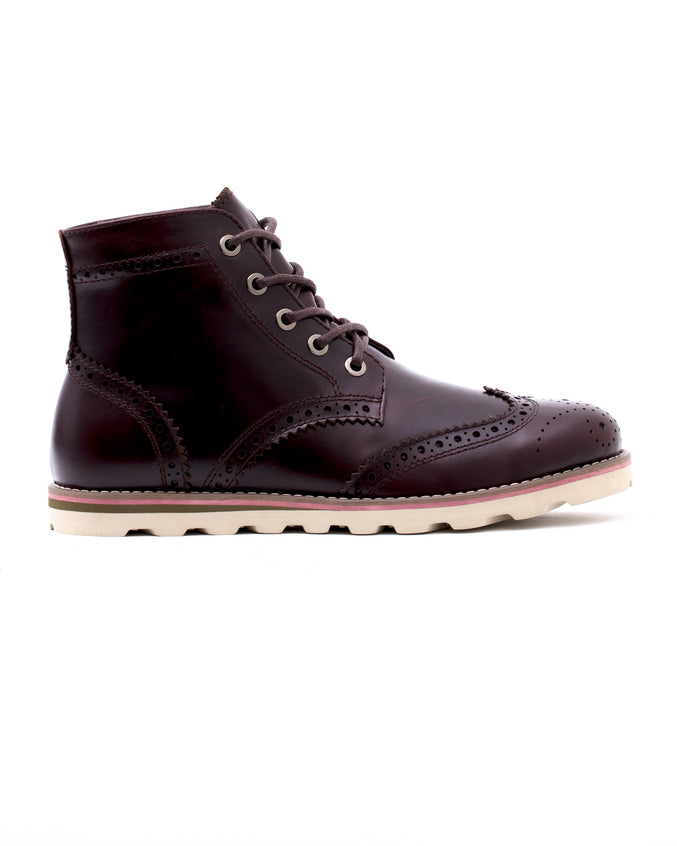 Wingtip Boot - Color: Chestnut Leather | Red