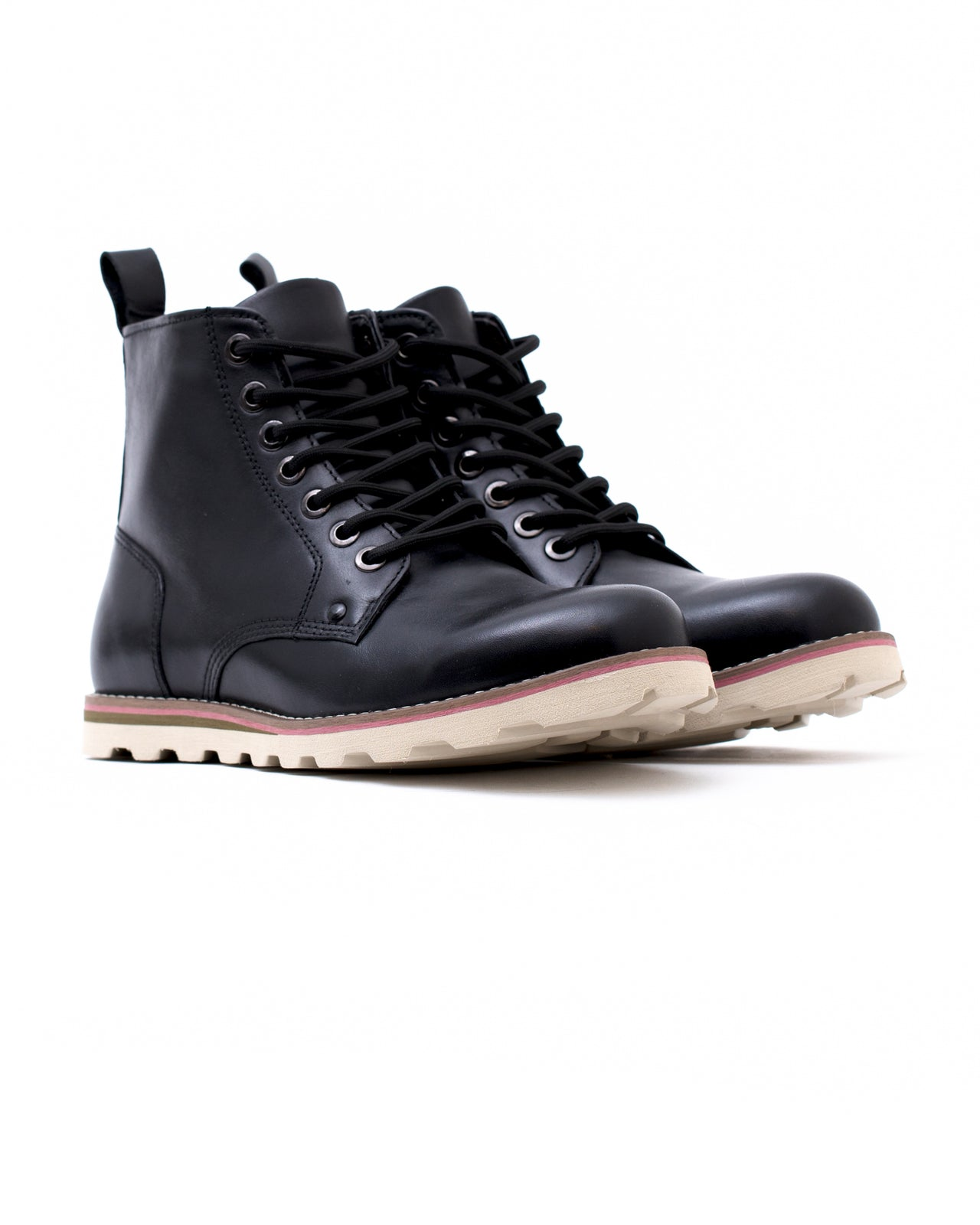 Work Boot - Color: Black Waxed Leather | Black
