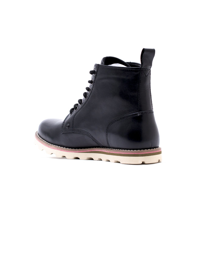 Wingtip Boot - Color: Black Leather | Black