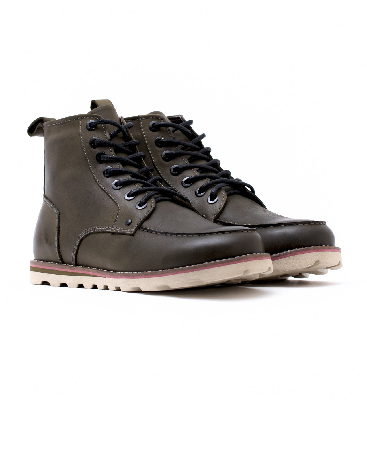 Moc Toe Boot - Color: Olive Leather | Green