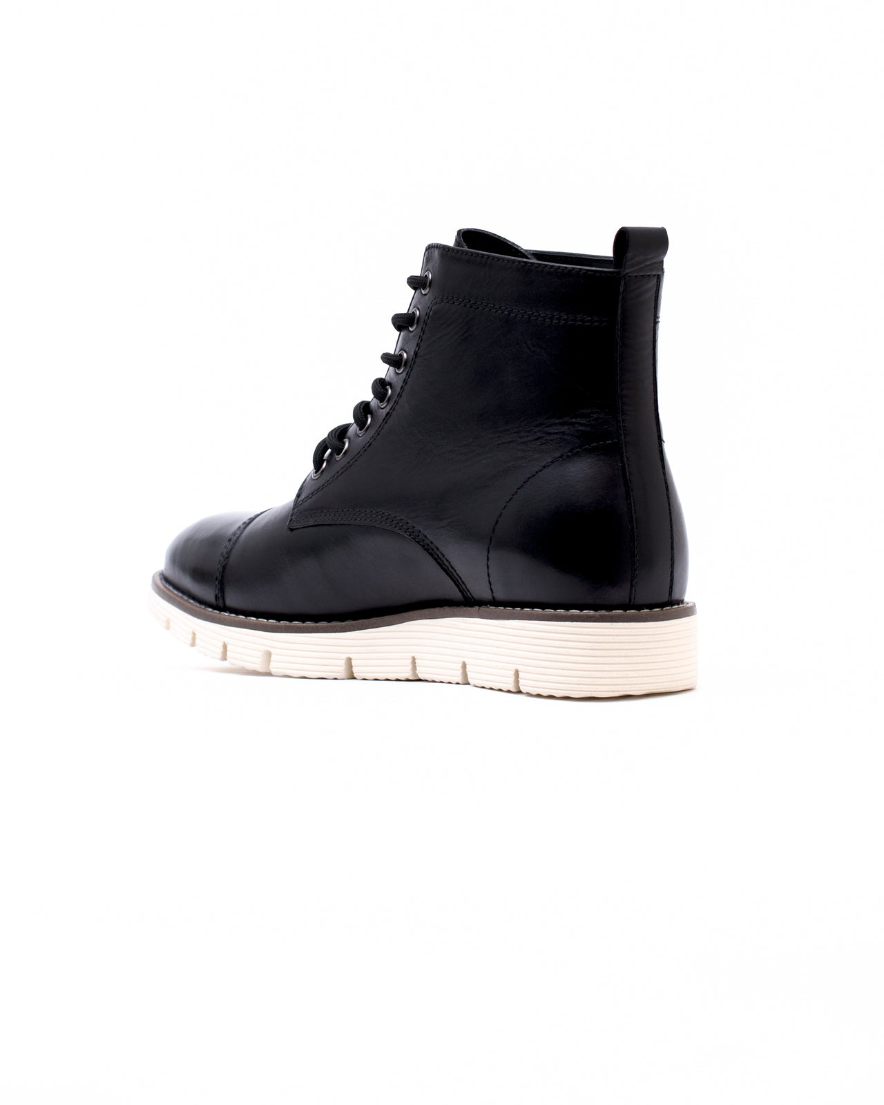 Cap Toe Boot - Color: Black Leather | Black