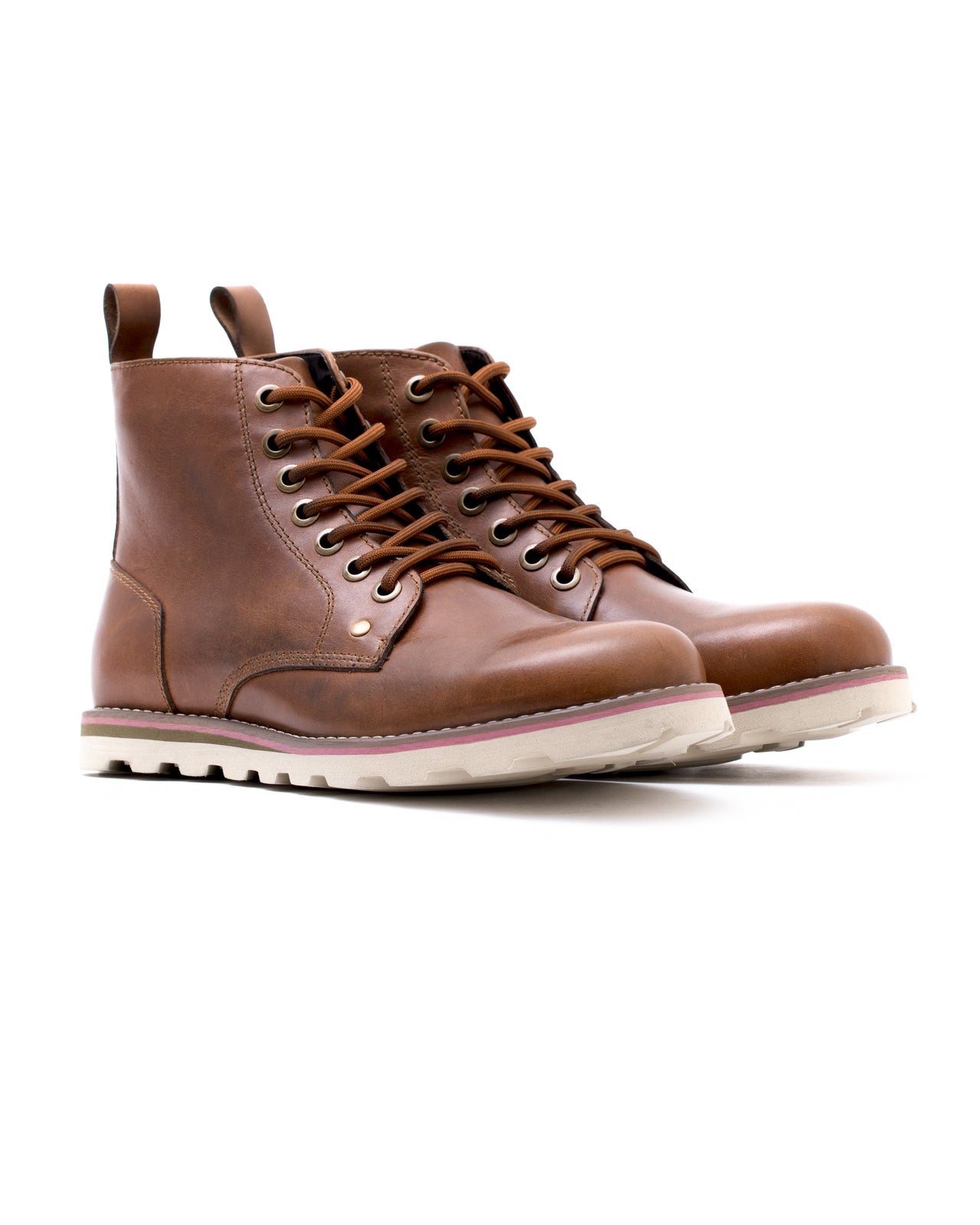 Work Boot - Color: Tan Leather | Brown