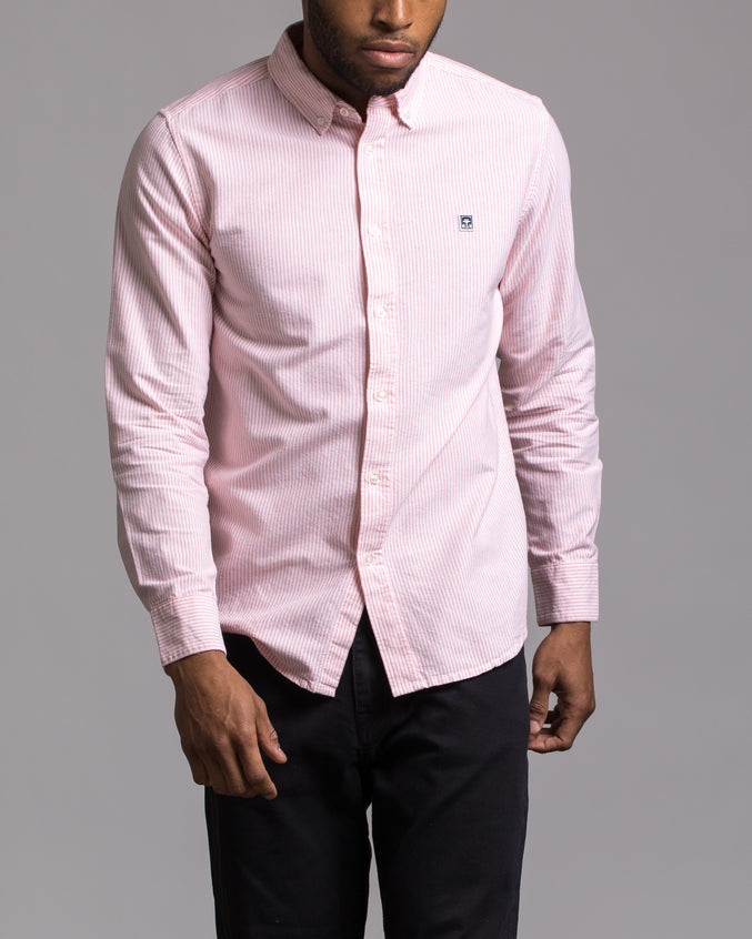 Eighty Nine Stripes Shirt - Color: Pale Coral Multi | Pink