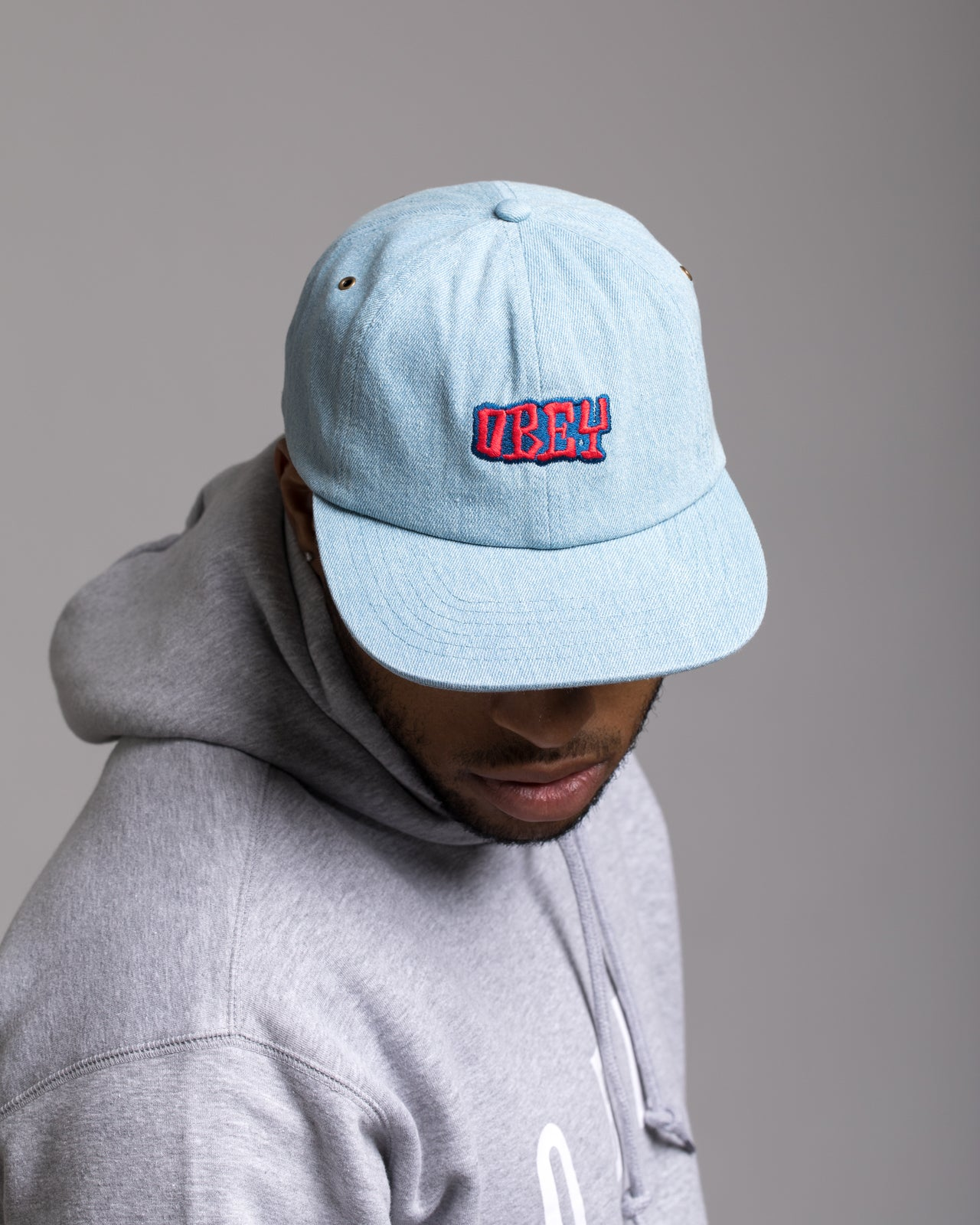 Campbell 6 Panel Hat - Color: Light Denim | Blue
