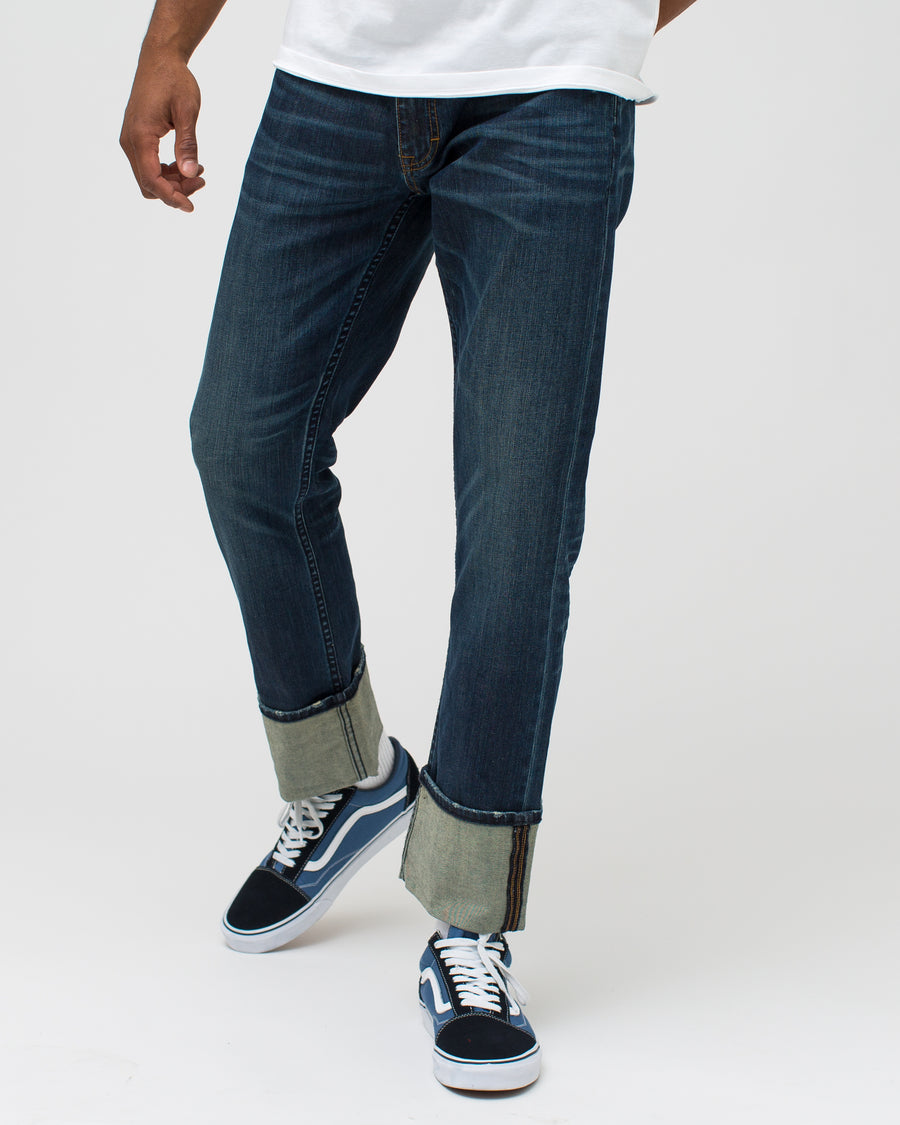Cuffed Denim Pant
