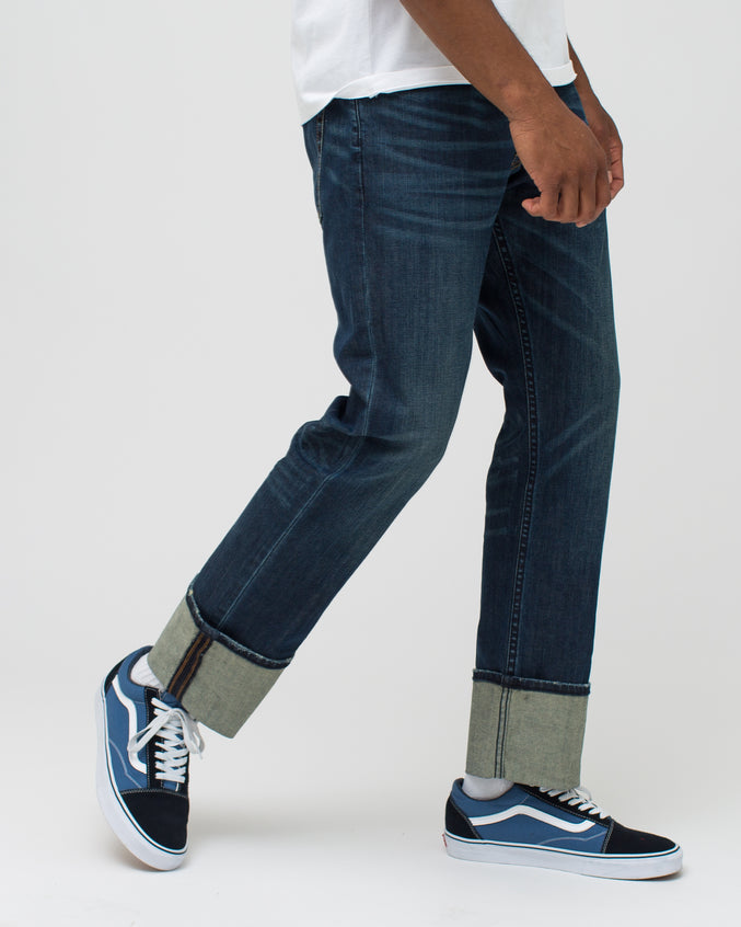 Cuffed Denim Pant - Color: Classic Dark | Blue