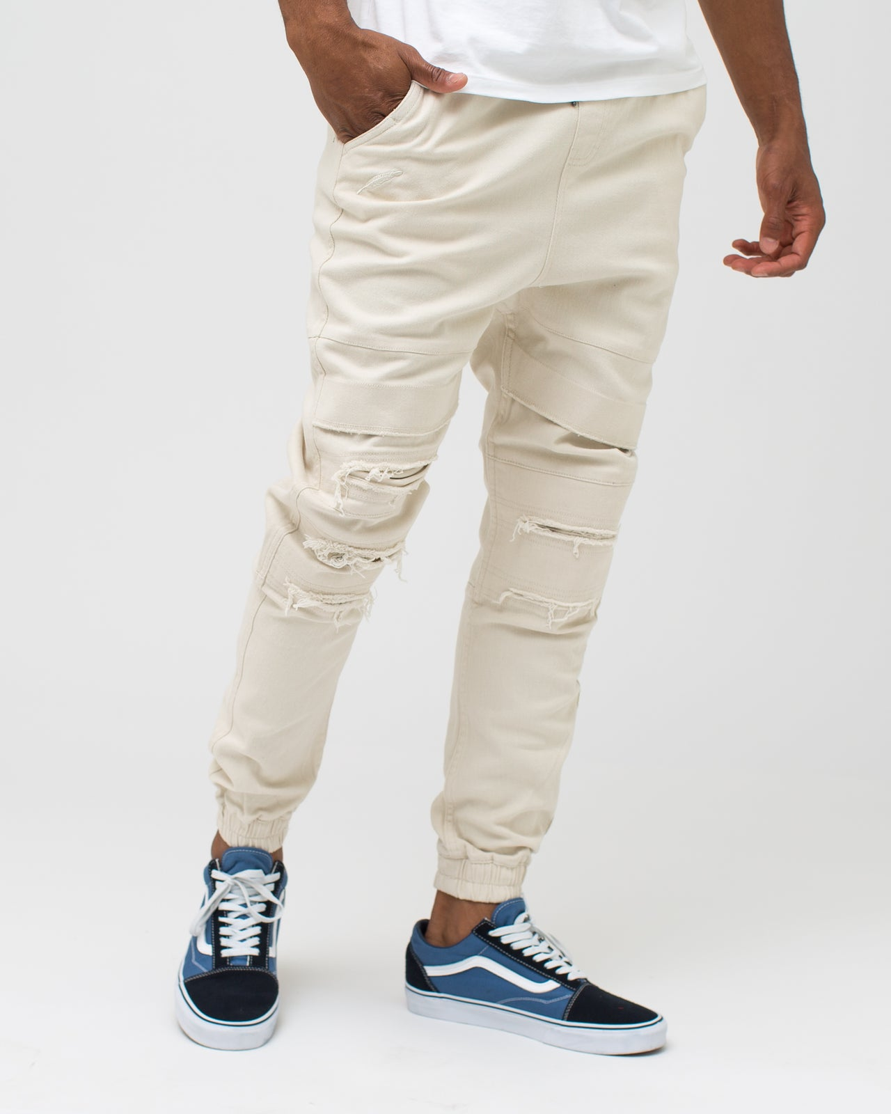 Shooter Jogger - Color: Turtle Dove | Beige