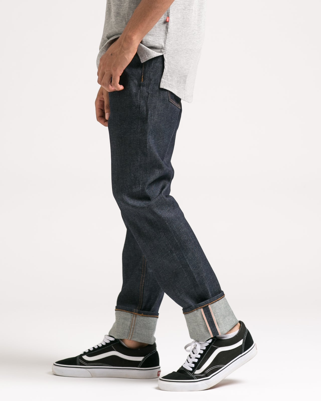 Slim Stretch Selvedge Denim - Color: Indigo | Blue