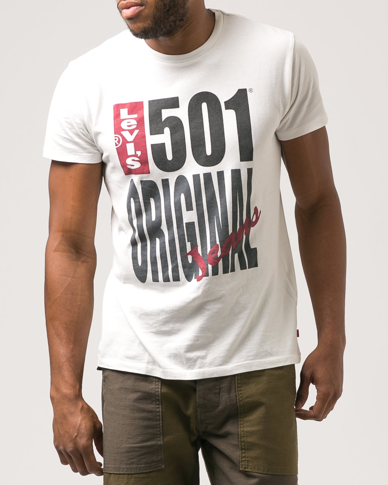 501 Graphic Tee - Color: White | White