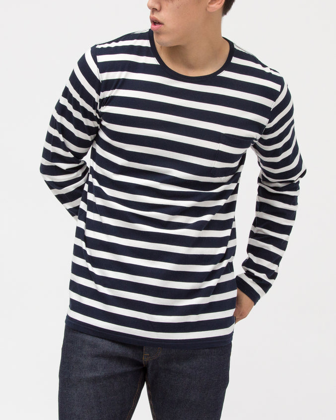 Simples Long Sleeve Tee - Color: Dirty Denim | Blue