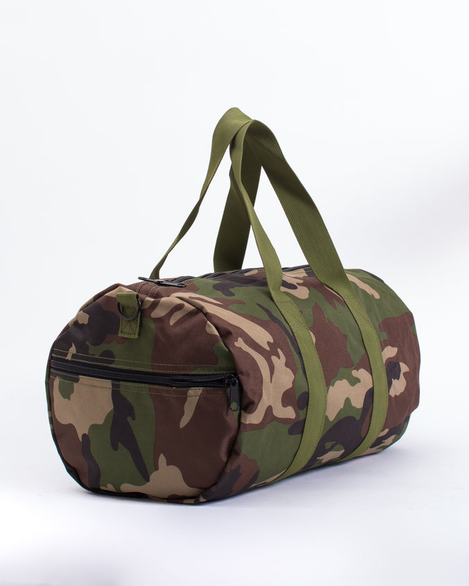 19 Inch Duffle Canvas Bag - Color: Woodland Camo | Multi