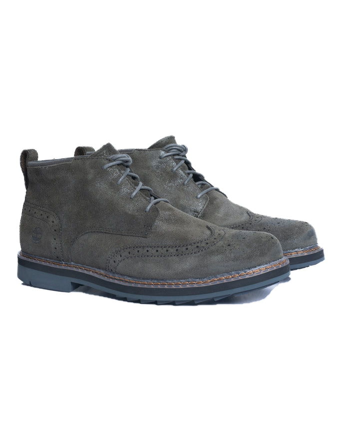 Squall Canyon Wingtip Chukka - Color: Dark Green Suede | Green