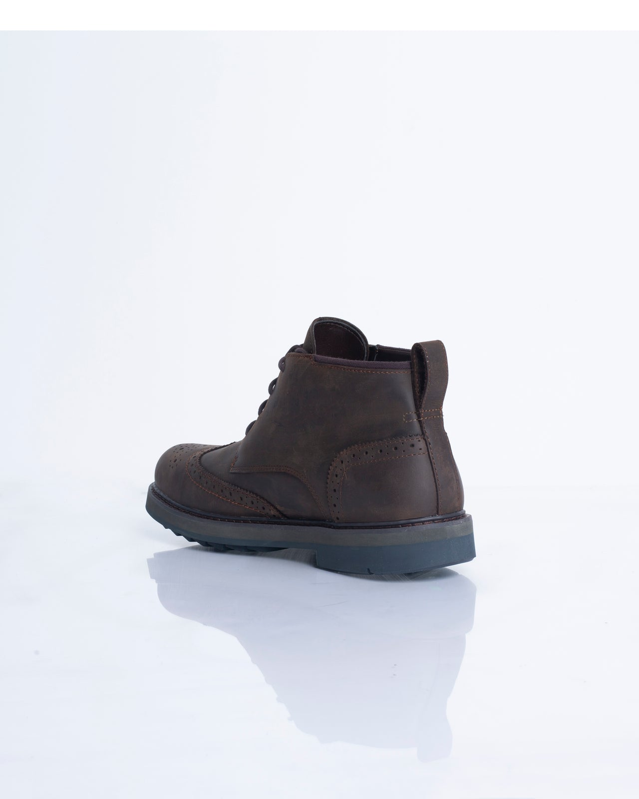 Squall Canyon Wingtip Chukka - Color: Dark Brown Full Grain | Brown