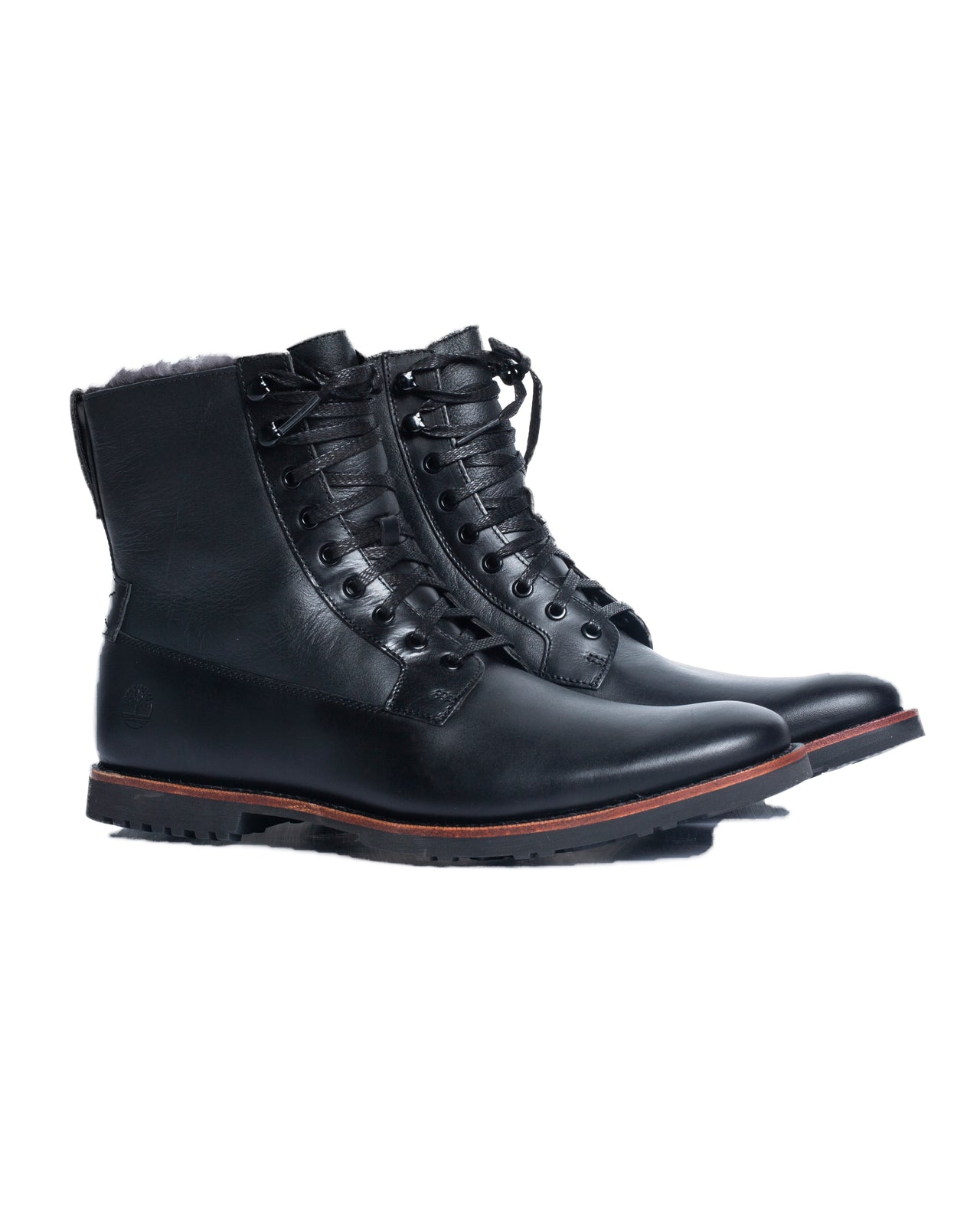 Kendrick Warm Lined Lace up Boot- Color: Black Full Grain | Black