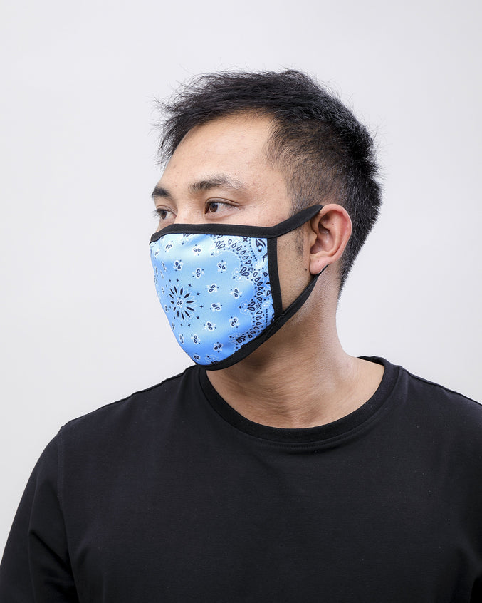 SOLID PAISLEY FACE MASK