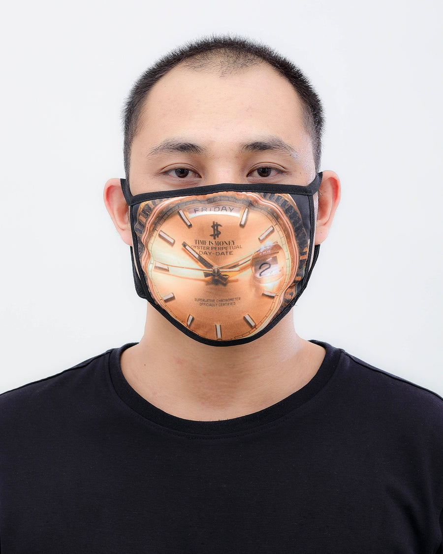 Time Is Money Face Mask