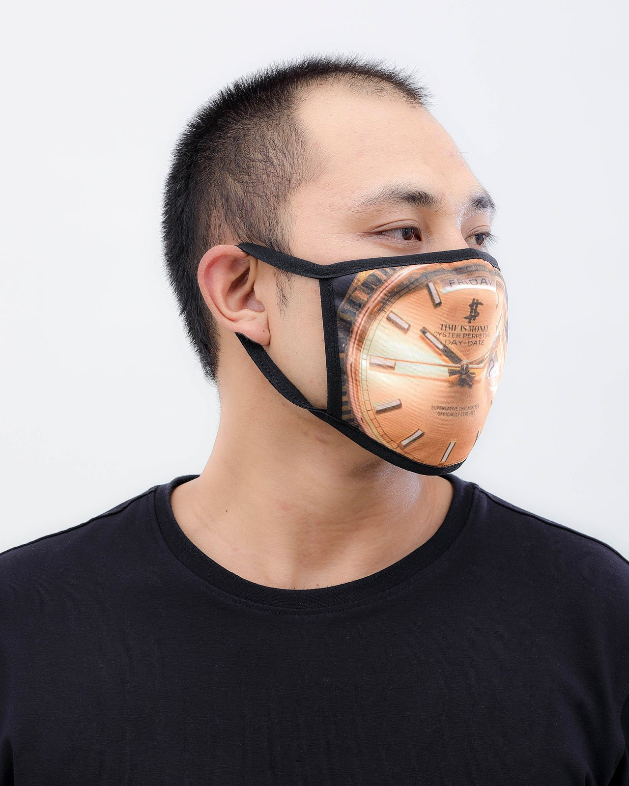 Time Is Money Face Mask - Color: GOLD | GOLD
