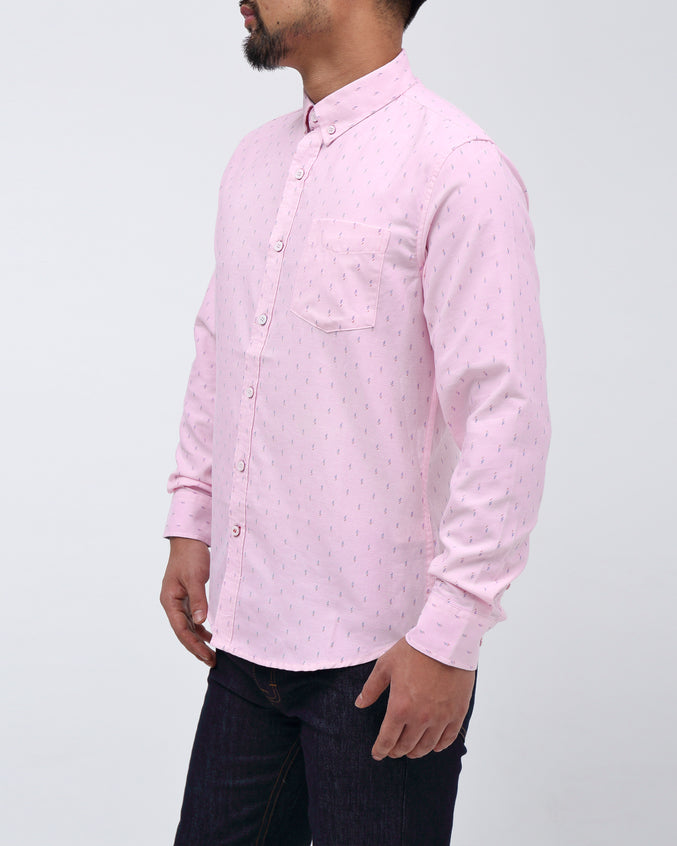 Stroke Print Shirt - Color: Pink | Pink