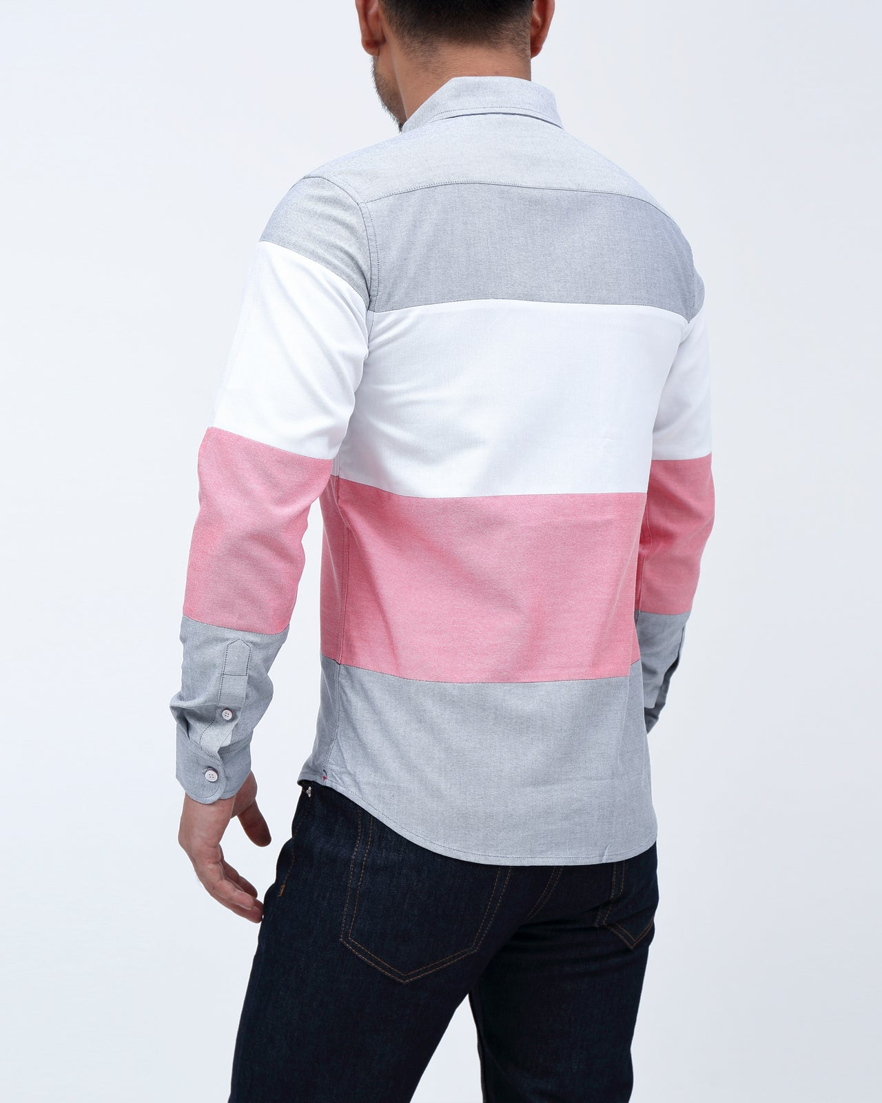 Blocked Shirt - Color: Black/White/Red | Multi