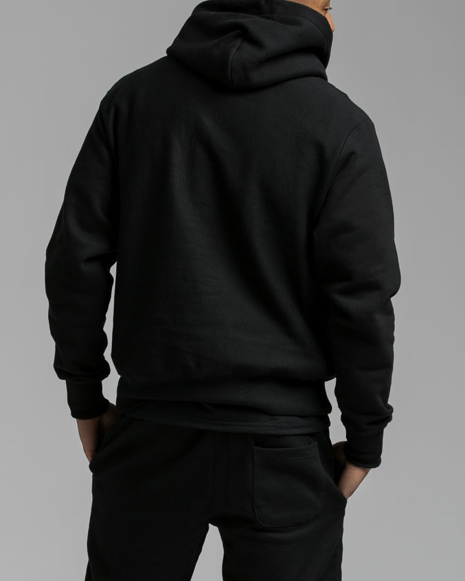 Reverse Weave Hoody - Color: Black | Black
