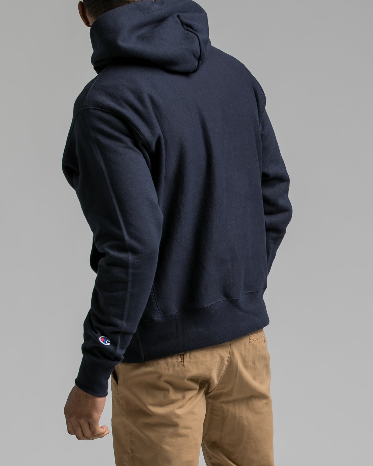 Reverse Weave Hoody - Color: Navy | Blue