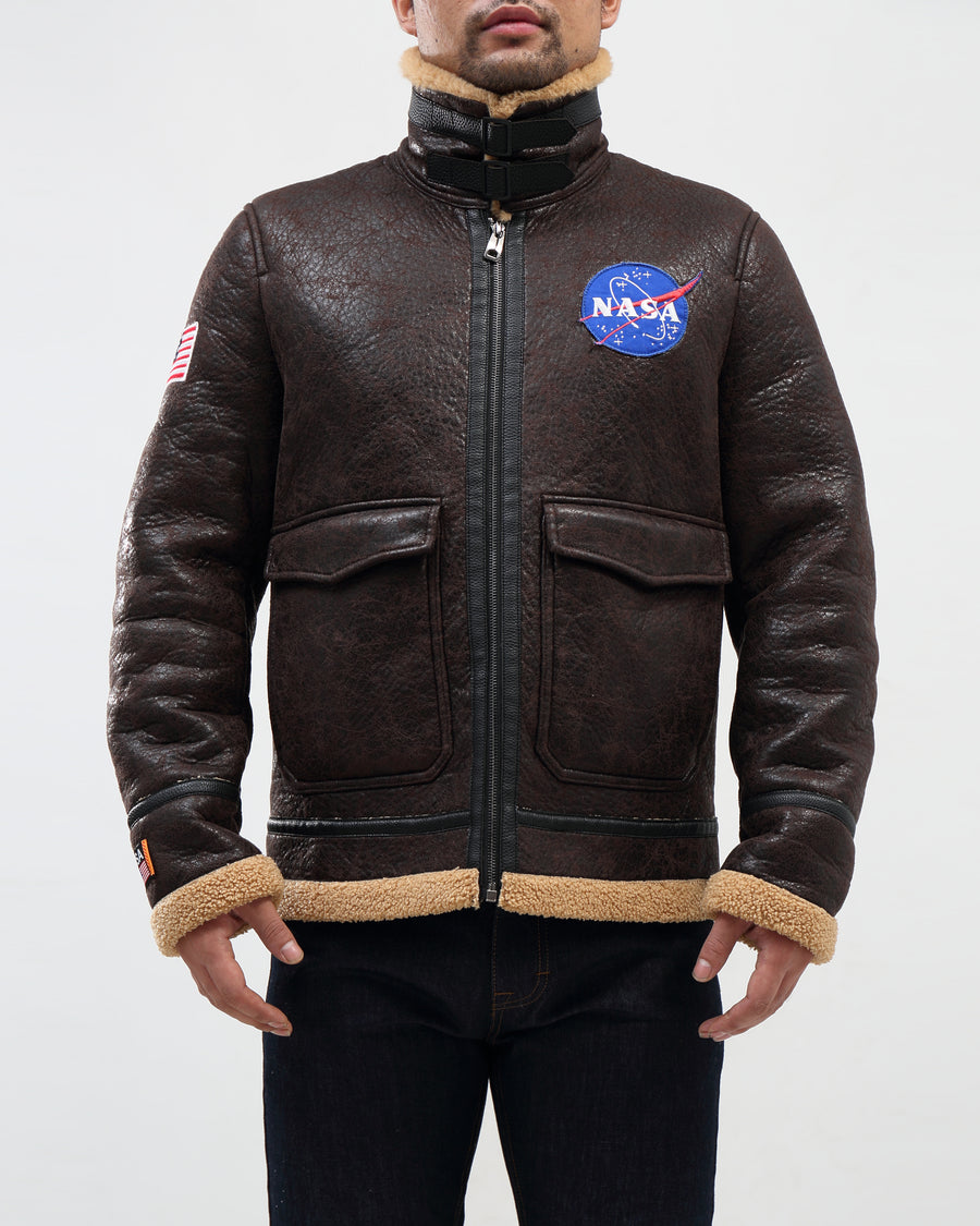 Nasa Meatball Shearing Jacket Bomber
