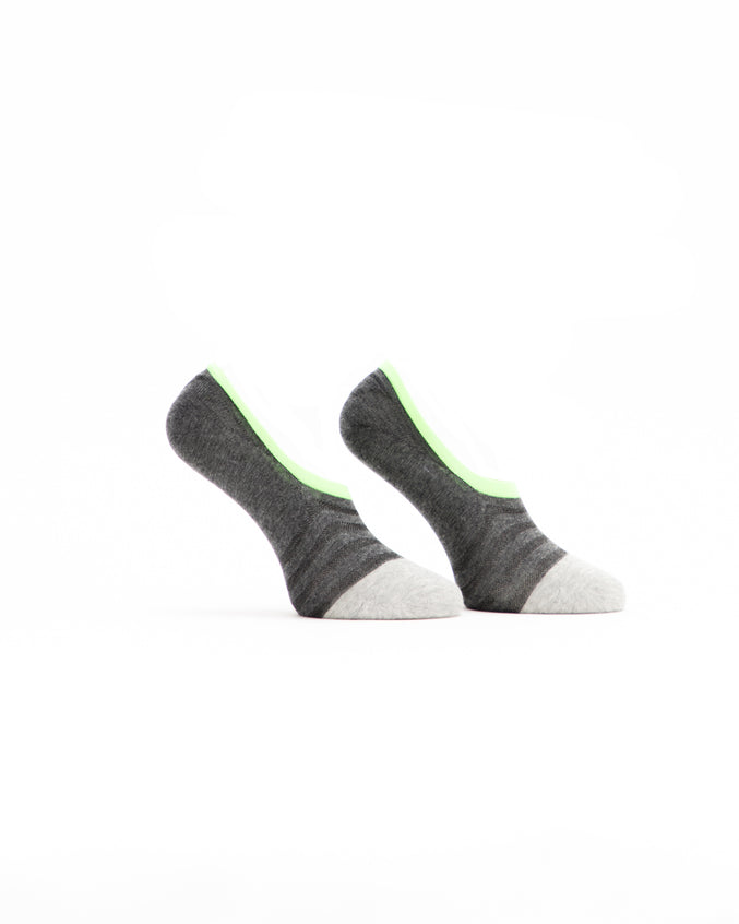 No Show Sock - Color: Charcoal/Multi | Gray