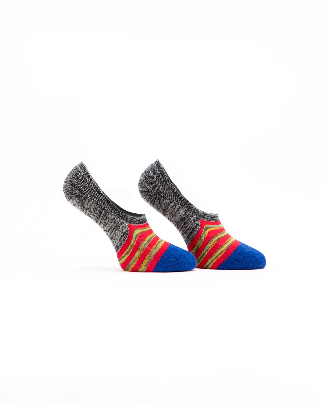 No Show Striped Sock - Color: Multi Red | Multi