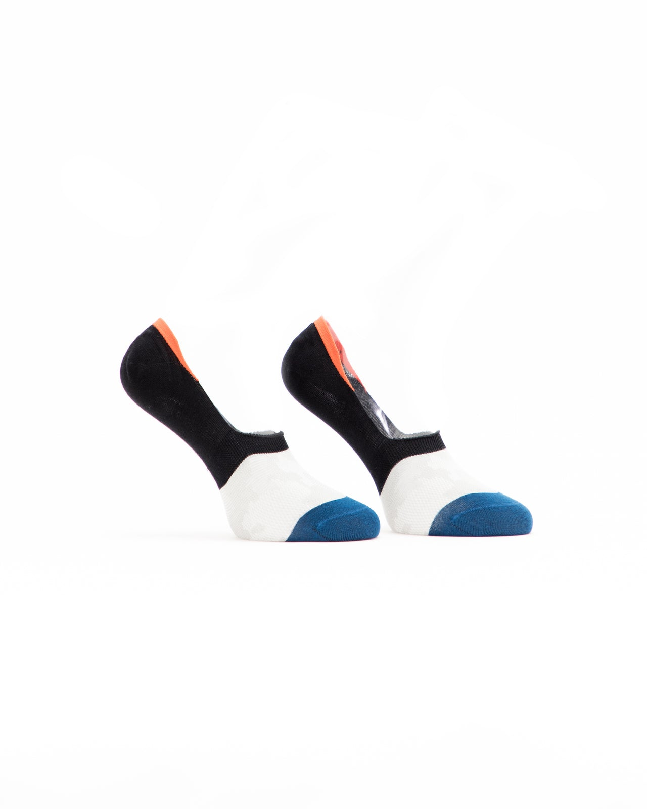 No Show Sock - Color: Black/White/Blue | Multi