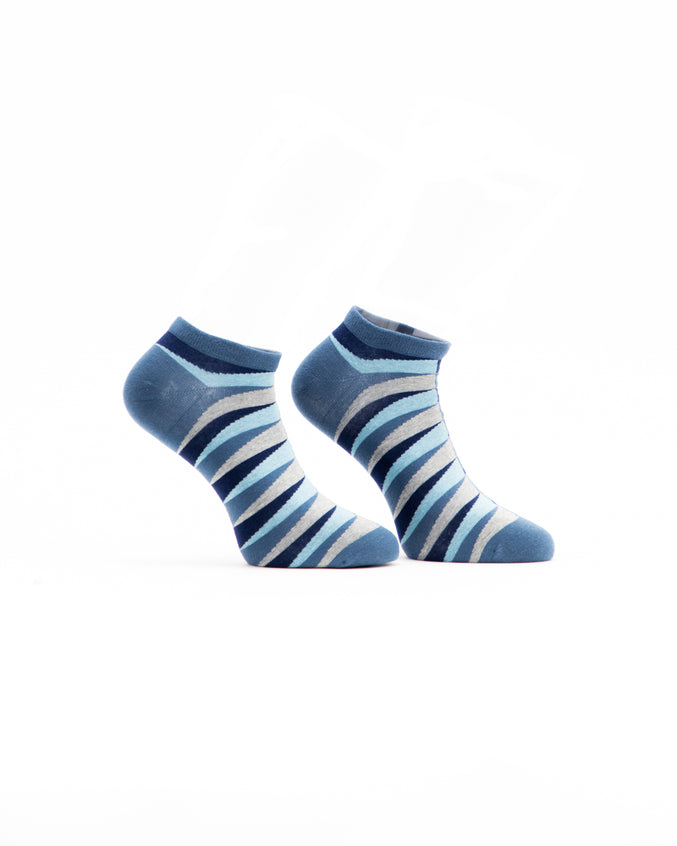 Retro Ankle Sock - Color: Blue | Blue