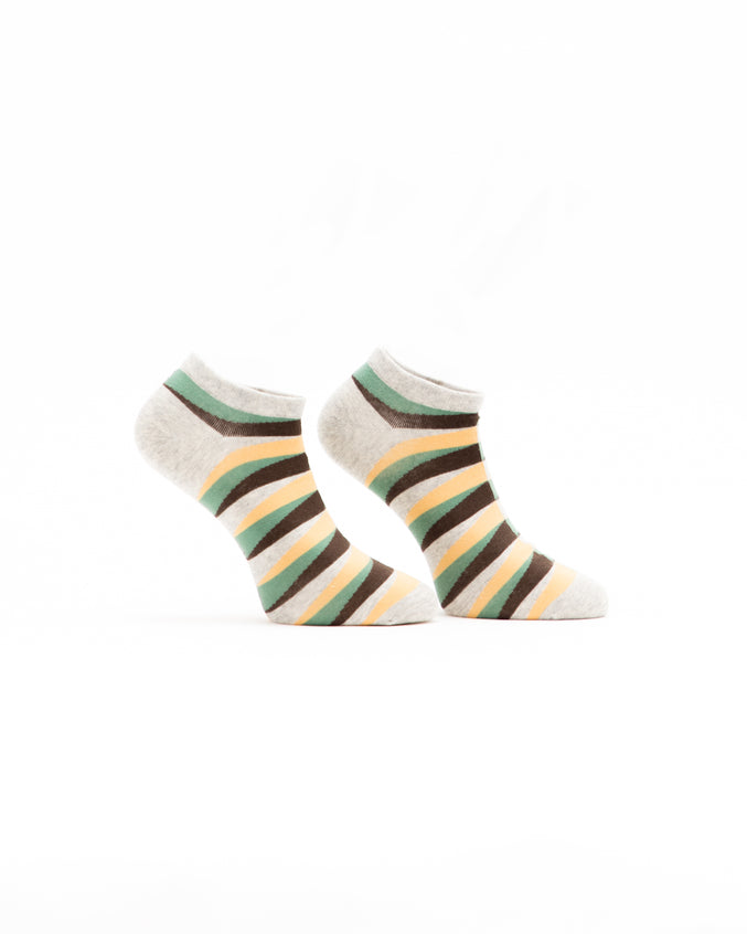 Retro Ankle Sock - Color: Yellow | Yellow