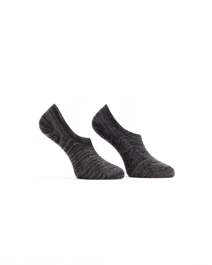 No Show Marl Sock - Color: Charcoal Marl | Gray