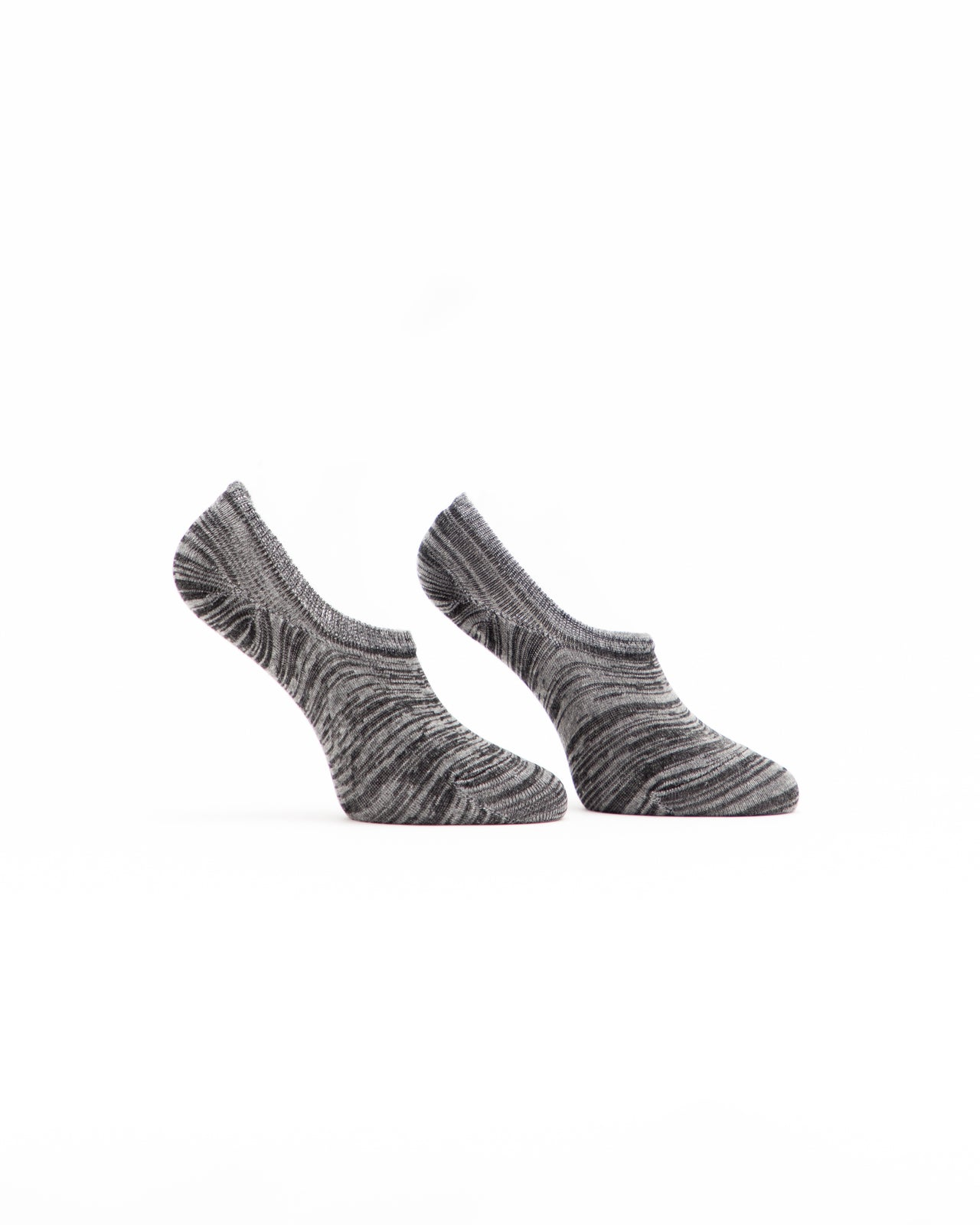 No Show Marl Sock - Color: Grey Marl | Gray
