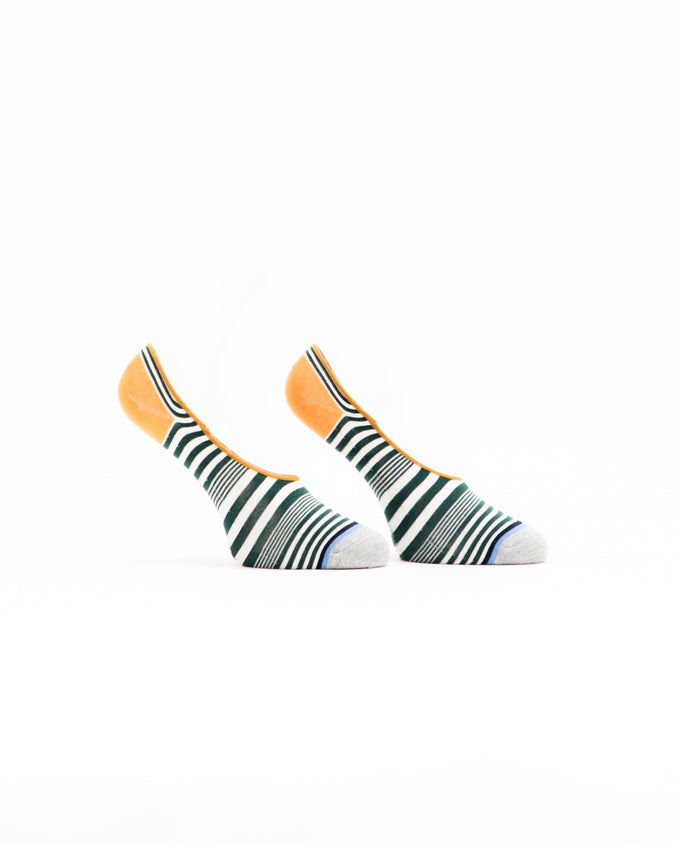 No Show Striped Sock - Color: Grey Multi | Gray