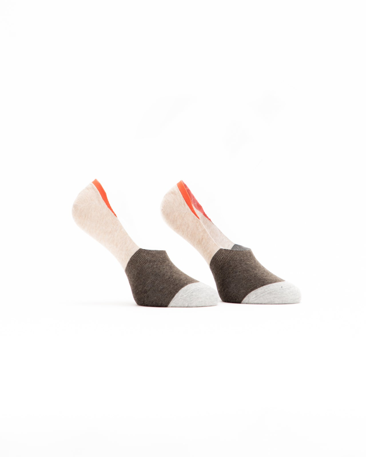 No Show Sock - Color: Cream/Gray | Gray