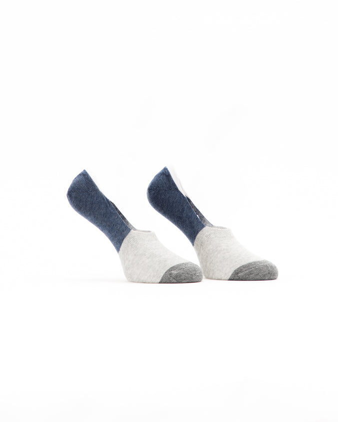 No Show Sock - Color: Navy/Grey | Gray