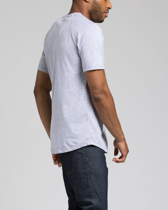 Short Sleeve Henley - Color: Heather Grey |Gray