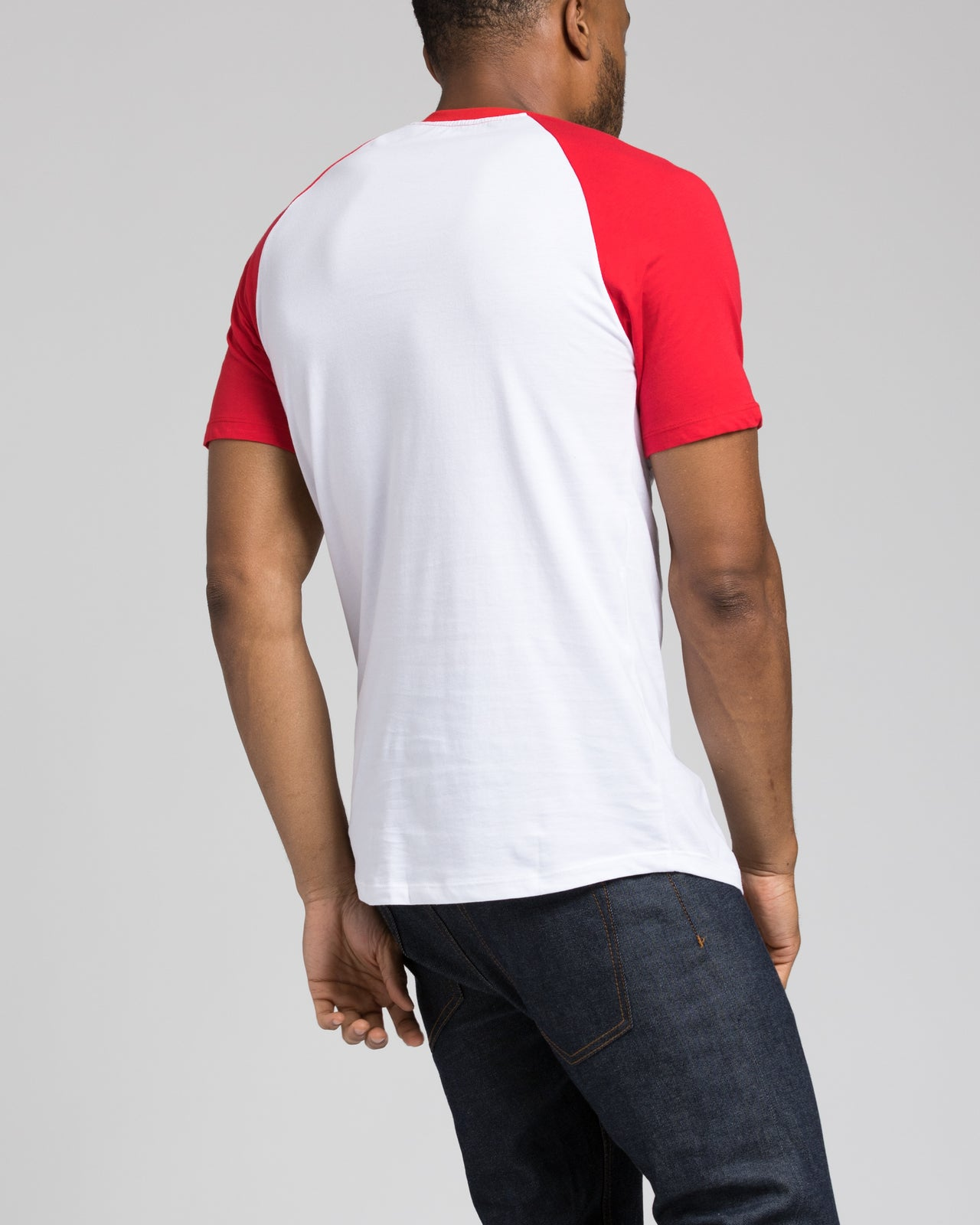 Short Sleeve Henley - Color: Red/White | White