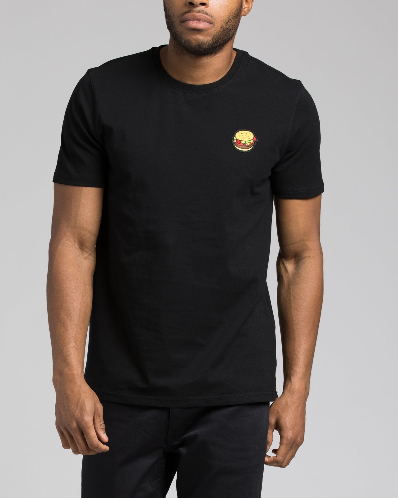 Burger Patch tee - Color: Black | Black