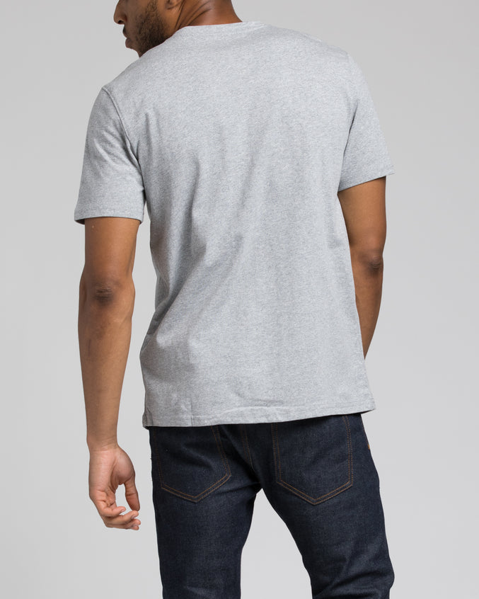 Space Patch tee - Color: Heather Gray | Gray