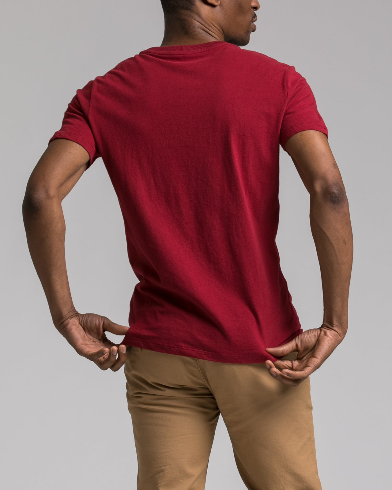 Slim Tee - Color: Burgundy | Red